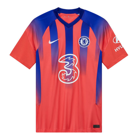 Chelsea FC 2020/21 Mens Replica Third Jersey, Red, rebel_hi-res