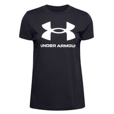 Under Armour Womens UA Sportstyle Graphic Tee, Black, rebel_hi-res