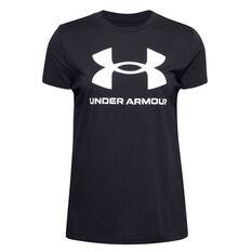 Under Armour Womens UA Sportstyle Graphic Tee Black XS, Black, rebel_hi-res