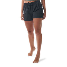 Ell & Voo Womens Meadow Relaxed Fit Shorts Black XXS, Black, rebel_hi-res
