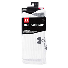 Under Armour Kids HeatGear Crew Socks White, , rebel_hi-res