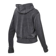 Ell & Voo Womens Noah Cropped Pullover Hoodie Black XXS, Black, rebel_hi-res