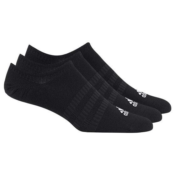 adidas Light No Show Socks 3 pack, Black, rebel_hi-res