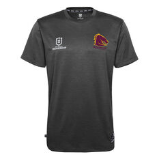 Brisbane Broncos 2021 Mens Performance Tee, Black, rebel_hi-res
