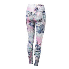 Ell & Voo Womens Crystal High Waisted Full Length Tights, Print, rebel_hi-res