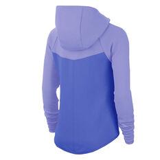 Nike Womens Sportswear Windrunner Tech Fleece Full Zip Hoodie Blue XS, Blue, rebel_hi-res
