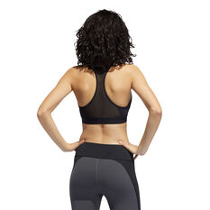 adidas Womens Don't Rest Alphaskin Padded Sports Bra Black XS, Black, rebel_hi-res