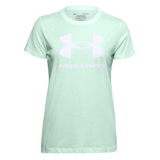 Under Armour Womens UA Sportstyle Graphic Tee, Green, rebel_hi-res
