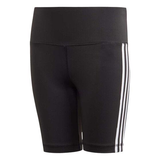 adidas Girls Believe This 3-Stripes Short Tights, Black, rebel_hi-res