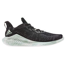 adidas Alphabounce Parley Womens Running Shoes, Black / Green, rebel_hi-res