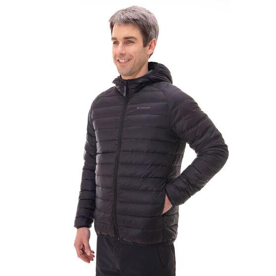 Macpac Mens Uber Light Hooded Jacket, Black, rebel_hi-res