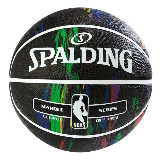 Spalding NBA Marble Basketball, Black / Multi, rebel_hi-res