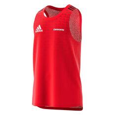 Crusaders 2020 Mens Performance Singlet Red S, Red, rebel_hi-res