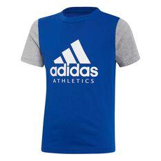 Adidas Boys Sport ID Tee Royal Blue 8, Royal Blue, rebel_hi-res