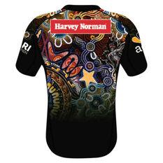 NRL Indigenous All Stars Youth 2021 Jersey Black 8, Black, rebel_hi-res