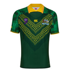 Kangaroos World 9s Mens Jersey Green / Yellow S, Green / Yellow, rebel_hi-res