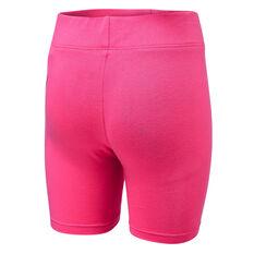 Nike Girls Futura Bike Shorts Pink/Black 4, Pink/Black, rebel_hi-res