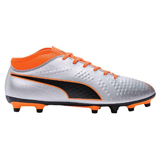 Puma One 4 Mens Football Boots Black / Orange US 11, Black / Orange, rebel_hi-res