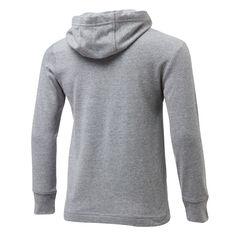 Nike Boys Jersey Pullover Hoodie Grey/Black 4, Grey/Black, rebel_hi-res