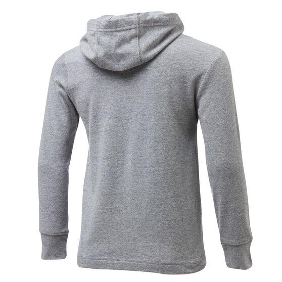 Nike Boys Jersey Pullover Hoodie, Grey/Black, rebel_hi-res