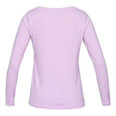 Under Armour Womens HeatGear Armour Long Sleeve Tee Purple XS, Purple, rebel_hi-res