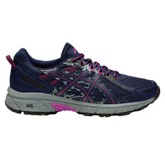 Asics Gel Venture 6 D Womens Trail Running Shoes Black / Grey US 6, Black / Grey, rebel_hi-res