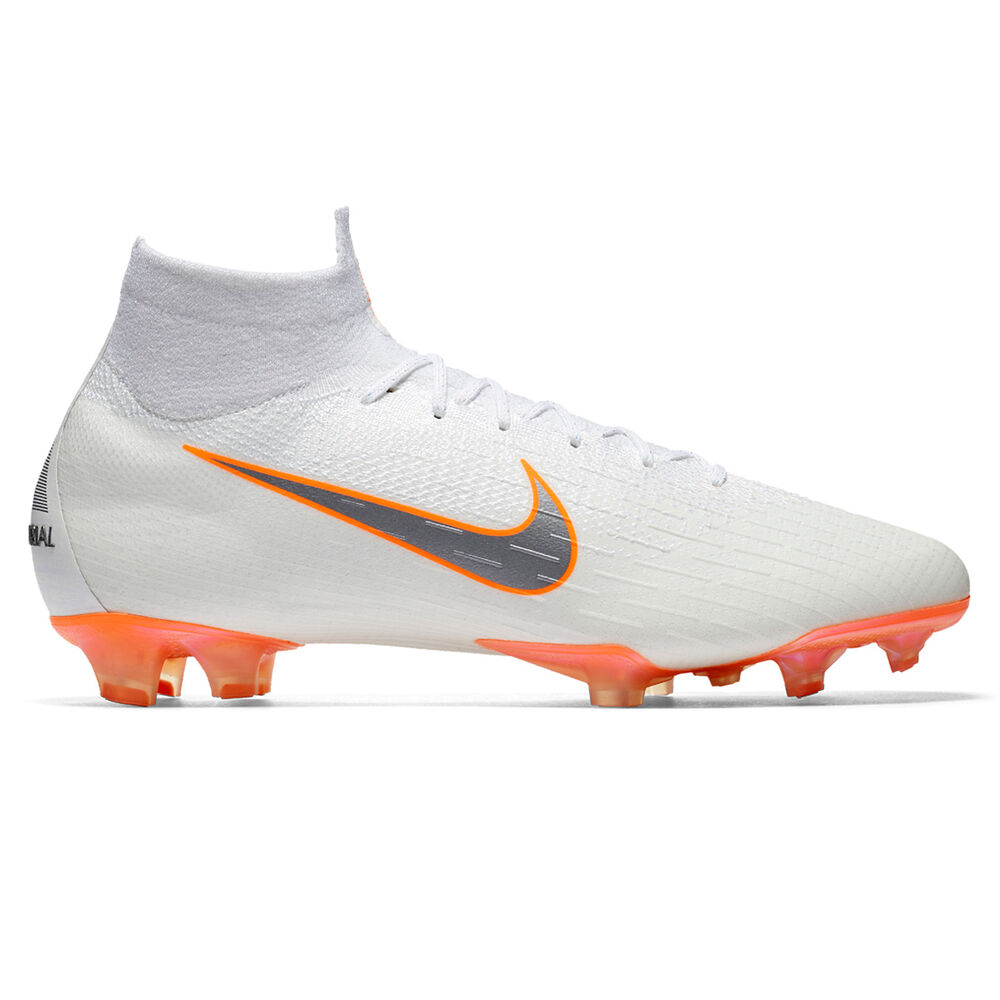 76331ba6b Nike Mercurial Superfly VI Elite Mens Football Boots White   Grey US ...