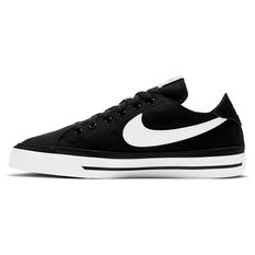 Nike Court Legacy Canvas Womens Casual Shoes Black/White US 5, Black/White, rebel_hi-res