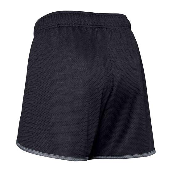 Under Amour Womens UA Tech Mesh 5 Inch Shorts, Black, rebel_hi-res