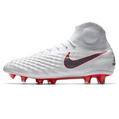 Nike Magista Obra II Elite Dynamic Fit Mens Football Boots White / Grey US 7, White / Grey, rebel_hi-res