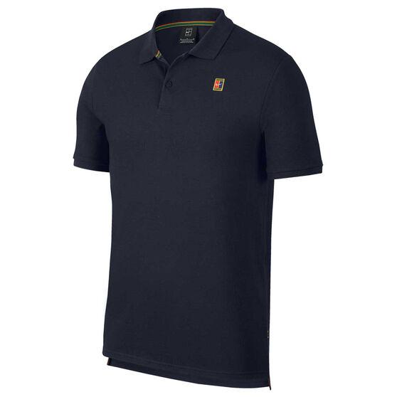 Nike Mens Court Heritage Tennis Polo, Blue, rebel_hi-res