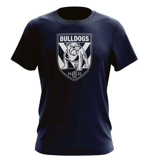 Canterbury Bulldogs Mens Outline Tee L, , rebel_hi-res