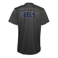 Parramatta Eels 2021 Kids Performance Tee Black S, Black, rebel_hi-res