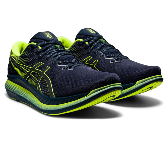 Asics GlideRide 2 Lite Show Mens Running Shoes, Black/Yellow, rebel_hi-res