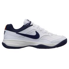 Nike Court Lite Mens Tennis Shoes White / Blue US 7, White / Blue, rebel_hi-res