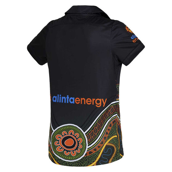 Cricket Australia 2020/21 Kids Indigenous Jersey Black 6, Black, rebel_hi-res
