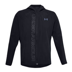 Under Armour Mens Outrun The Storm Jacket Black S, Black, rebel_hi-res
