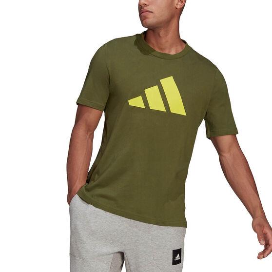 adidas Mens Sportswear Logo Tee, Khaki, rebel_hi-res
