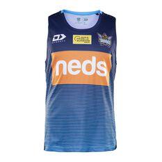 Gold Coast Titans 2020 Mens Training Singlet Blue S, Blue, rebel_hi-res