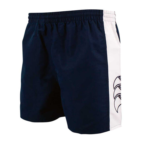 Canterbury Mens Panelled Tactic Shorts, Blue / White, rebel_hi-res