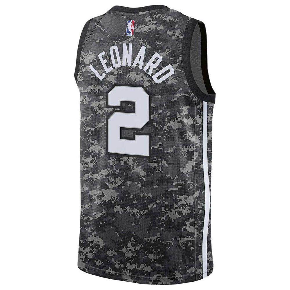 6fd3e77c8be2 Nike San Antonio Spurs Kawhi Leonard City 2018 Mens Swingman Jersey Black  S