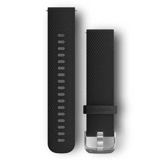 Garmin Quick Release 20mm Black / Silver Watch Band 2 sizes, , rebel_hi-res