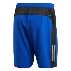 adidas Mens Own The Run Shorts Blue XS, Blue, rebel_hi-res
