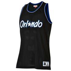 Mitchell and Ness Mens Orlando Magic Mesh Tank Black S, Black, rebel_hi-res