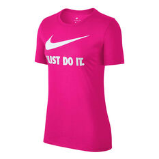 Nike Womens Just Do It Swoosh Tee Hot Pink XS, Hot Pink, rebel_hi-res