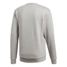 adidas Mens Essentials Plain French Terry Sweatshirt Grey XS, Grey, rebel_hi-res