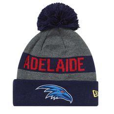 Adelaide Crows 2018 New Era Jake Beanie Grey OSFA, , rebel_hi-res