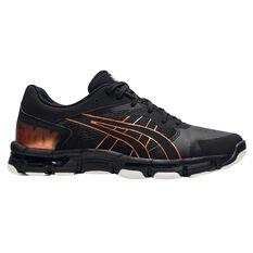 Asics GEL Netburner Academy 8 Womens Netball Shoes Black/Bronze US 6, Black/Bronze, rebel_hi-res