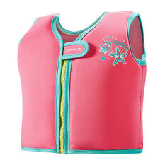 Speedo Sea Squad Swim Vest Pink, Pink, rebel_hi-res
