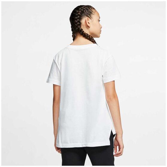 Nike Sportswear Girls Futura Tee, White/Pink, rebel_hi-res